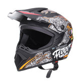Motocicleta Off Road Light Dirt Bike Helmet Visor de rosto completo Racing Head Protect Safety