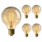 4PCS Kingso E26 G80 60W AC110V 64A Warm White Retro Amber Edison Incandescent Light Bulb for Home