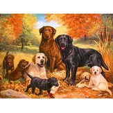5D Diamond Paintings Dogs Embroidery Cross Stitch Pictures Arts Craft Tool Kit Decor
