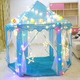 Enfants Pop Up Play Tente Princesse Playhouse Party Christma cadeaux Décorations + LED