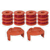 Grass Trimmer Head Spool Line String with Spool Coil Cap Cover for Worx WA0010 WG150 WG180