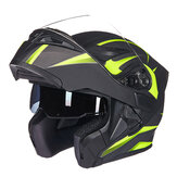 GXT 902 DOT Motocicleta Capacete integral Virar para cima Motocross Double Lens Racing Riding