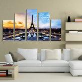 Париж Эйфелева Башня Живопись Искусство 5 Шт. Распечатать Картину Главная Декор Номеров Без Рамки