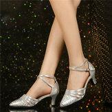 Tacones de 5.5 cm para mujer Soft Zapatos de baile de entrenamiento cómodos