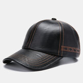 Hombres Artificial Leather vendimia Gorra de béisbol