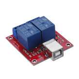 2 Channel 5V HID Driverless USB Relay USB Control Switch Computer Control Switch PC Intelligent Control Relay Module
