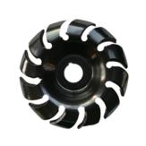 Drillpro المنغنيز الصلب 90 ملليمتر 12 الأسنان نحت القرص 22 ملليمتر تتحمل طاحونة تشكيل القرص ل 125 زاوية طاحونة النجارة