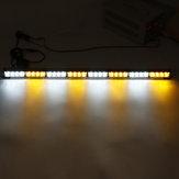 35Inch 32 LED Strobe Light Warning Advisor Traffic Traffic Bar de Perigo de Emergência Âmbar + Branco