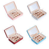 Portable Women Jewelry Box Ornaments Storage Case PU Earring Holder Organizer