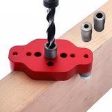 Drillpro Aluminiumlegierung Holzbearbeitung Selbstzentrierende Dübelvorrichtung 6/8 / 10mm Straight Hole Locator Puncher