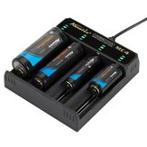 Alonefire® 3.7V 4 Slot Universal Intelligent Battery Charger with short circuit protection For Li-ion Battery 18650 26650 14500