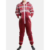 Original              Mens Christmas Printing Fashion Pajama Set Casual Jumpsuit