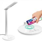 USB LED Danışma Lamba Masa Qi Kablosuz Şarj Okuma Dokunmatik Işık Ayarlanabilir Qi özellikli Akıllı Telefon için