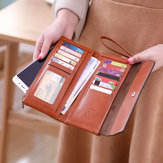 New Fashion Buckle Women's Long Wallet Women's Clutch Phone Wallet Bag