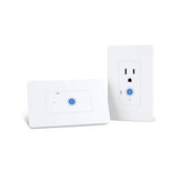 SONOFF IW100 / IW101 US WiFi Smart Power Monitoring Wall Разъем Переключатель Работа с Amazon Alexa и Google Assistant Voice Control Управление сетью LAN