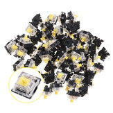 120PCS Pack 3Pin Gateron Linear Yellow Switch Keyboard Switch for Mechanical Gaming Keyboard