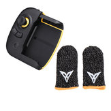Flydigi Wasp 2 bluetooth Gamepad with Behive Black&yellow Finger Gloves for iOS Android PUBG Mobile Games