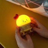 クリエイティブLED漫画スプリングスイッチウサギ鹿ナイトライト子供用おもちゃ圧力リリーフギフト