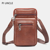 Men Genuine Leather Waist Bag Crossbody Bag