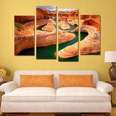 Miico dipinto a mano quattro combinazioni di dipinti decorativi Canyon River Wall Art per la decorazione domestica