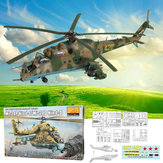 Mi-24P Hind-F/Mi-24D Hind-D 1:48 Scale Static Aircraft Series Helicopter Model Toys