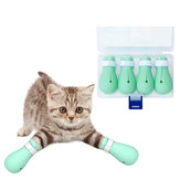 4pcs / set Anti-Scratch Gato Foot Foot Silicona Pet Grooming Claws Cover