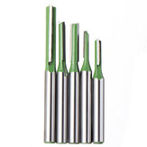 Drillpro 5pcs 6mm Straight Shank Router Bit 3-6mm Cutting Diameter Woodworking Milling Cutter