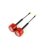 A Pair Rush Cherry RHCP MMCX Right Angle 1.2dBi 5.8Ghz FPV Racing Antenna for RC Drone