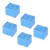 5 piezas QIANJI JQC-3F (T73) -5VDC 12VDC T73 5V 12V 10A Módulo de relé de 5 pines