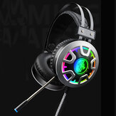 RGB Luminescent 3.5mm Audio Jack Filaire Gaming Headset Son Stéréo Avec LED Microphone Câble Audio