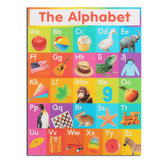 ABC Alphabet Learn Papel de pared decorativo de tela de seda educativo para niños