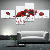 4PCS Geometric Flower Canvas Art Print Paint Wall Picture Poster Mural DIY Decorations