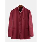 Heren New Fit National Patchwork Shirts met lange mouwen