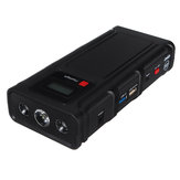 12800mAh Multifonctionnel Voiture Jump Starter Support USB QC3.0 Charge LED Lampe de Poche Type-C Port