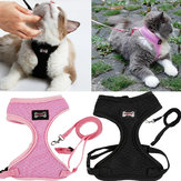 Verstelbare Pet Lead Leash Cat Dog Harness en Soft Mesh Walking Harness Vest Apparel