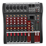 6 Saluran Musik Didukung Profesional Stereo Audio Mixer USB Power Mixing Console MP3 Player