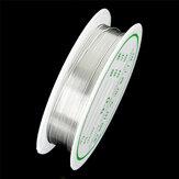 2-1.0mm Craft cuenta Alambre Plata Cobre Alambre Para Pulsera Collar Joyería DIY Accesorios