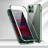 Bakeey 2 in 1 Magnetic 360º Full Cover 9H Lens Protector+Front+Back Double-sided Tempered Glass Metal Flip Protective Case for iPhone 11 6.1 inch