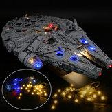 Kit de iluminação com luz LED SOMENTE para LEGO 75192 Star War Falcon Millenniuml Bricks