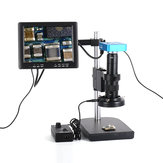 HAYEAR Full Set 34MP Industrial Microscope Camera HDMI USB Outputs with 180X C-mount Lens 60 LED Light Microscope with 8