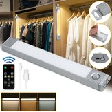 60 LED USB Rechargeable Motion المستشعر Closet ضوء Wireless Under Cabinet Lamp