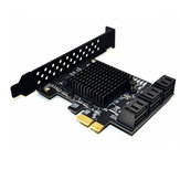 ITHOO PCE6SAT-M01 6 poorten SATA3.0 SSD PCI-E-uitbreidingskaart 6 Gbps IPFS harde schijfadapter voor desktopcomputer