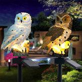 Solar Power LED Owl Lawn Light Home Outdoor Yard Landscape Garden Lamp Waterproof