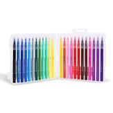 एम एंड जी 12/18/24 कलर्स वाटर कलर पेन सेट Soft ब्रश मंगा मार्कर पेन सेट स्केच आर्ट सप्लाई के लिए रंगीन पेन