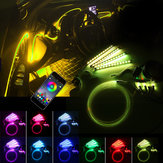 Luzes do assoalho interior do carro LED Strip RGB 6 M EL Decoração de fibra óptica Strip Light Lamp bluetooth App Control