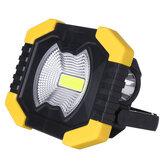 AA / Solar Batterij COB 750LM Oplaadbare Waterdichte LED Draagbare Spotlight Werklamp voor Outdoor Camping Vissen
