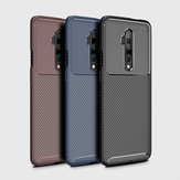 For OnePlus 7T Pro Case Bakeey Luxury Carbon Fiber Shockproof Anti-fingerprint Silicone Protective Case