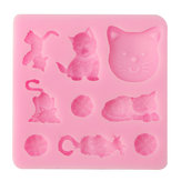 3D Cat Chocolate Candy Jelly Fondant Cake Tool Silicone Mold Baking Pan Bakeware Mould