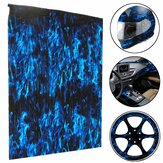 PVA Hydrographic Film Water Transfer Film Hydro Dip Blue Fire Style Decorations