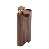 Natural Wooden Pipes Stash Box with Bat and Cleaning Tool fits in Pocket Two-in-one Set